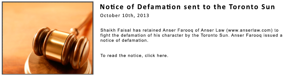 Notice of Defamation